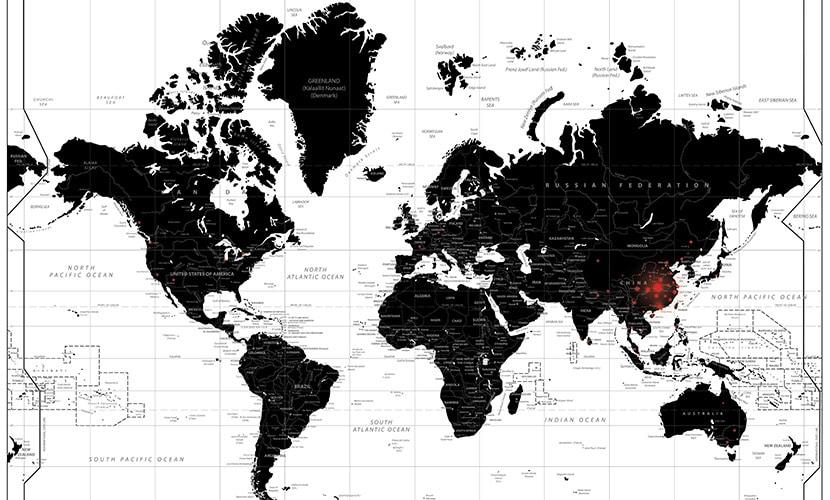 Coronavirus Map (Windy App)