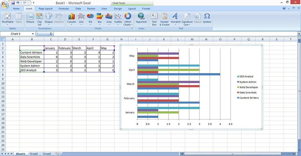make stacked bar chart in excel 3