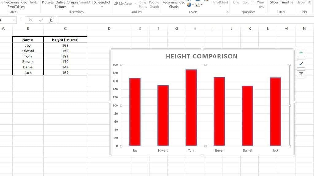 column chart excel