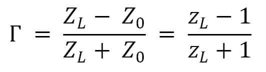reflection coefficient formula smith chart