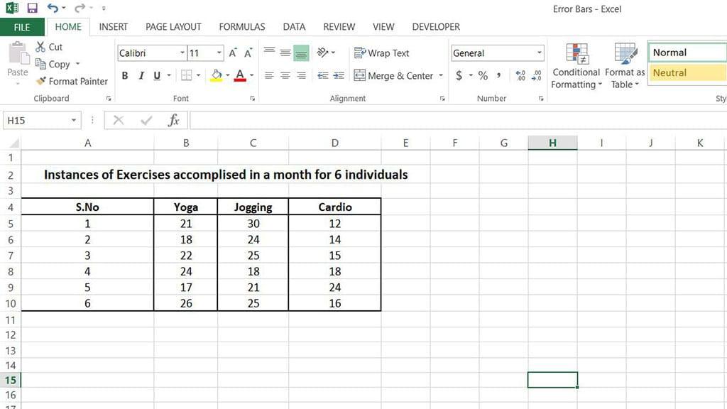 error bars in excel img1