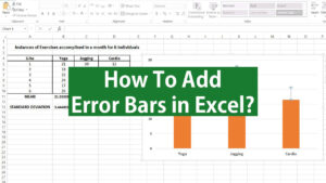how to add error bars in excel
